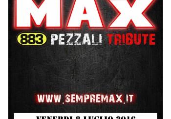 ESTATE PRENESTINA 2016 – 8 LUGLIO – MAX PEZZALI 883 TRIBUTE