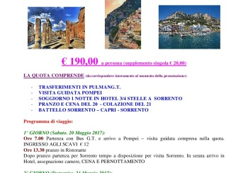 SI PARTE!! WEEK END POMEPI – SORRENTO – CAPRI